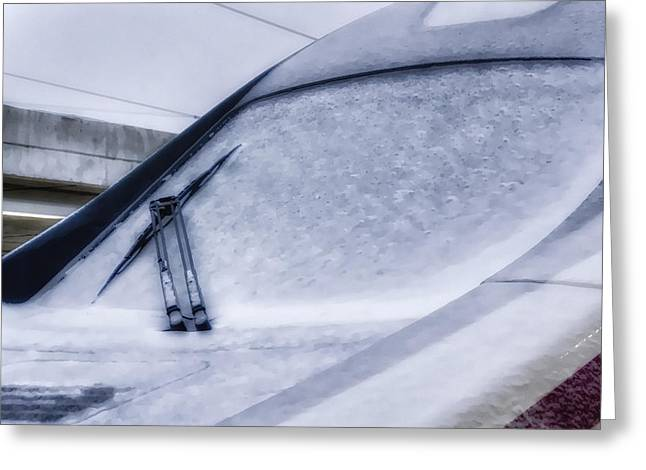 Development Greeting Cards - Snow on the Train Greeting Card by Joan Carroll