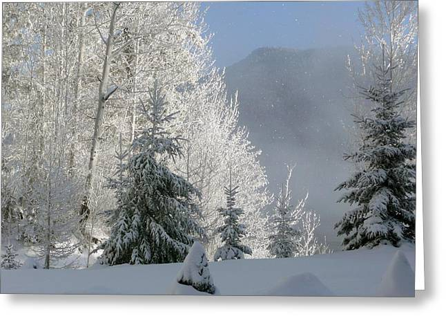 Snow Drifts Greeting Cards - Snow over British Columbia Greeting Card by Mountain Dreams