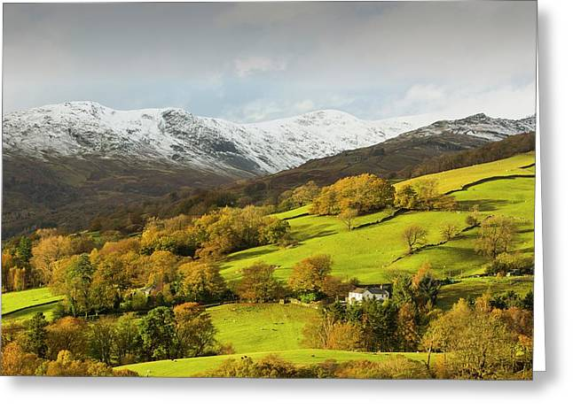 Snow Over Fairfield Greeting Card by Ashley Cooper