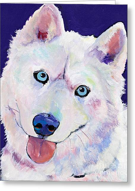 Snow Greeting Card by Pat Saunders-White