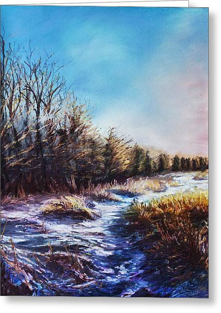 Snow Path Greeting Card by Bob Northway