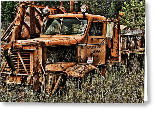 Ron Roberts Photography Prints Greeting Cards - Snow Plow Greeting Card by Ron Roberts