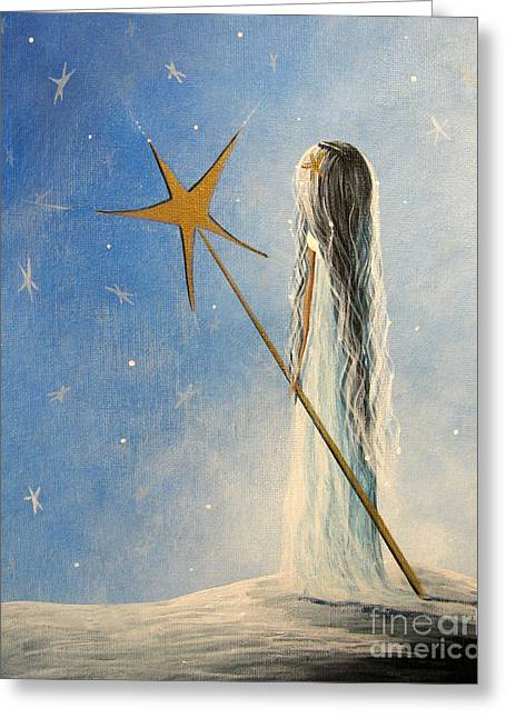 Outsider Greeting Cards - Snow Queen by Shawna Erback Greeting Card by Shawna Erback