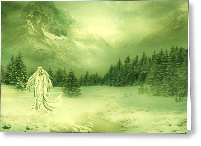 Snow Queen Greeting Card by Ester  Rogers