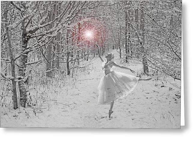 Wand Greeting Cards - Snow Queen Greeting Card by Mike Paget