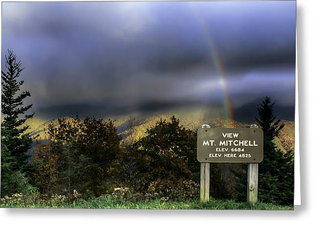 Nc Greeting Cards - Snow Rainbow in Fall from the Blue Ridge Parkway Greeting Card by John Haldane