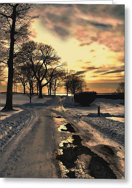 Westchester County Greeting Cards - Snow Set Greeting Card by Diana Angstadt