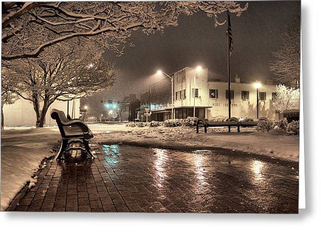 Snow Square - Color Greeting Card by Jimmy McDonald