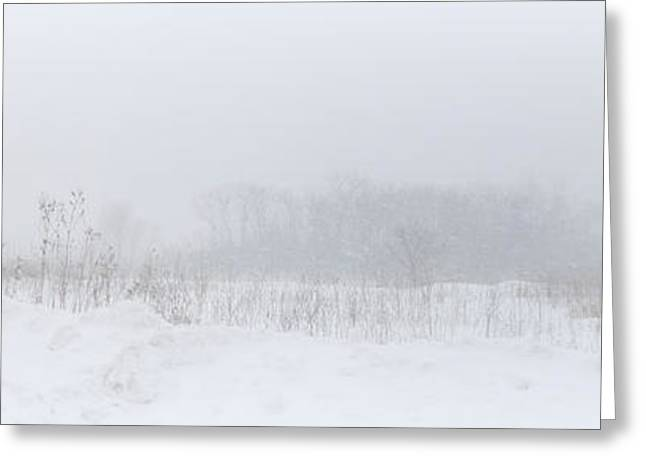 Storm Prints Digital Greeting Cards - Snow Storm Visibility Greeting Card by Kay Novy
