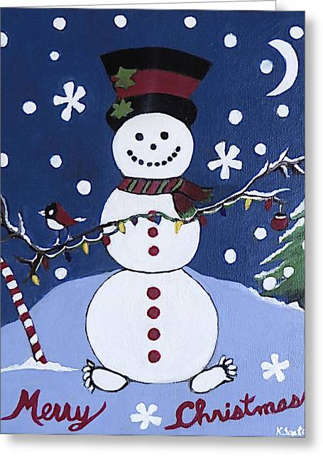 Button Nose Greeting Cards - Snow Toes Greeting Card by Kathleen Sartoris