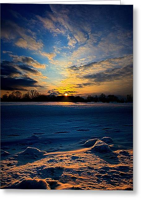 Geographic Greeting Cards - Snow Way Greeting Card by Phil Koch