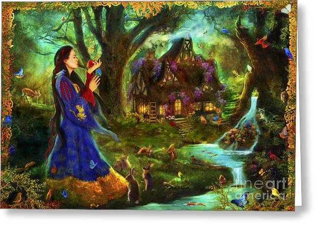 Stream Digital Greeting Cards - Snow White Greeting Card by Aimee Stewart