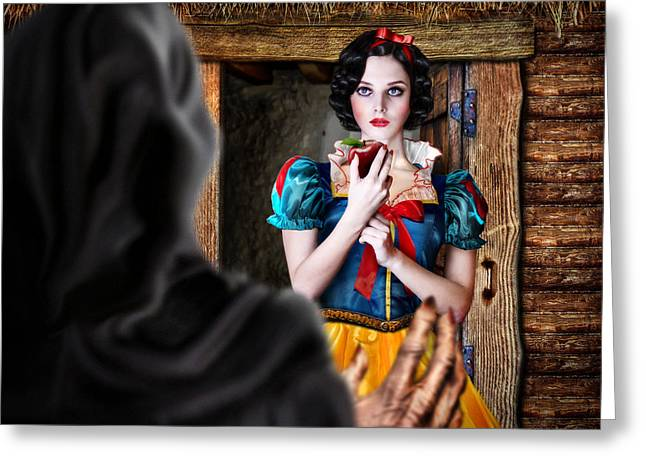 Stepmother Greeting Cards - Snow White Greeting Card by Alessandro Della Pietra