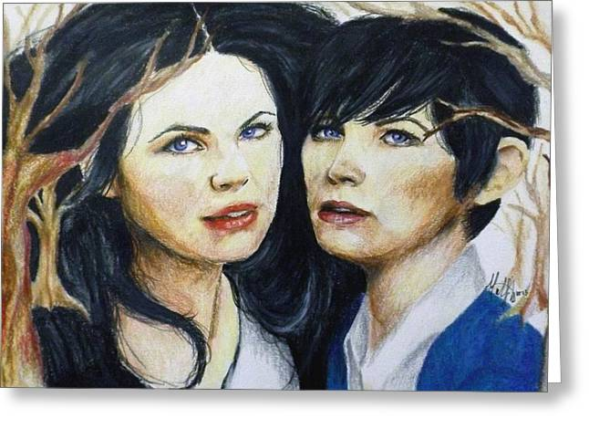 Ginnifer Goodwin Greeting Cards - Snow White/ Mary Margaret Greeting Card by Madelyn Mershon