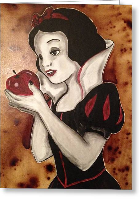 White Paintings Greeting Cards - Snow White Greeting Card by Tyler Clayberg
