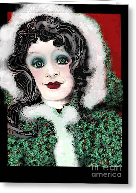 White As Snow Greeting Cards - Snow White Winter Greeting Card by Carol Jacobs