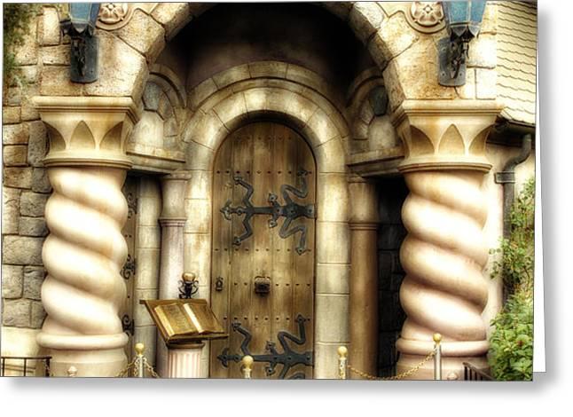 Snow Whites Scary Adventures Fantasyland Disneyland Greeting Card by Thomas Woolworth