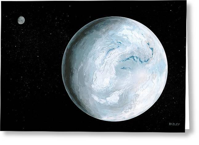Snowball Earth Greeting Card by Richard Bizley