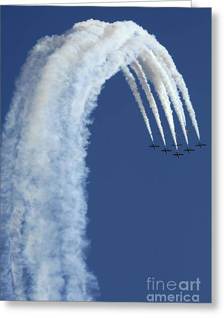 Military Aviation Photos Greeting Cards - Snowbirds Over The Edge Greeting Card by Bob Christopher