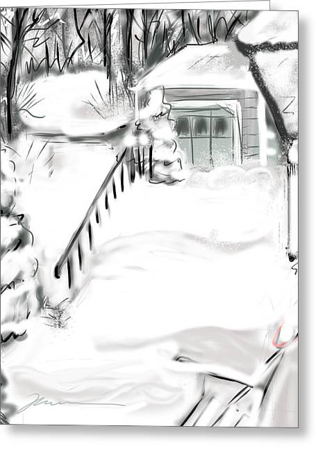 Snow Drifts Digital Art Greeting Cards - Snowbound Greeting Card by Jean Pacheco Ravinski