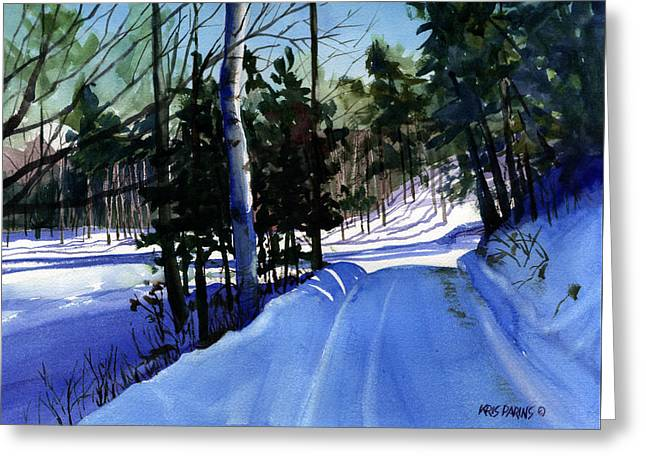 Snowbound Greeting Card by Kris Parins