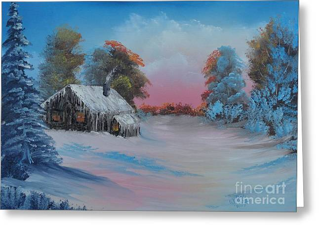 Evergreen With Snow Greeting Cards - Snowbound.....but Gorgeous Greeting Card by Bob Williams