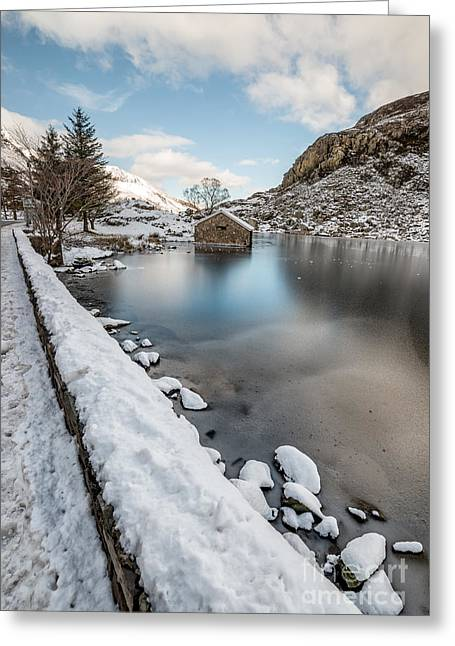 Wales Prints Greeting Cards - Snowcapped Greeting Card by Adrian Evans