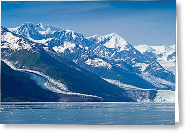 Prince William Greeting Cards - Snowcapped Mountains At College Fjord Greeting Card by Panoramic Images