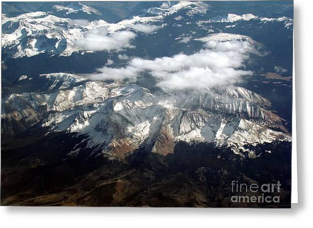 Snowcapped Mountains Greeting Card by Eva Kato