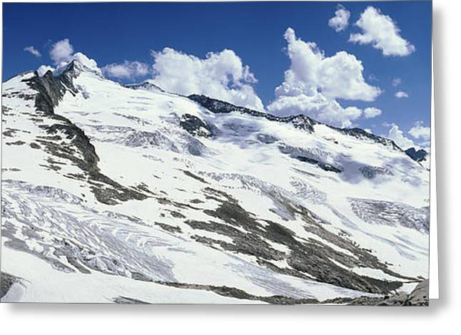 Salzburg Greeting Cards - Snowcapped Mountains, Grossvenediger Greeting Card by Panoramic Images