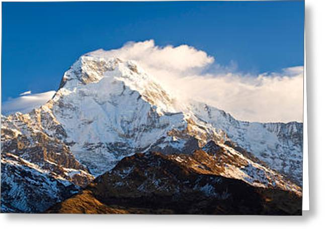 Mountain Greeting Cards - Snowcapped Mountains, Hiunchuli Greeting Card by Panoramic Images