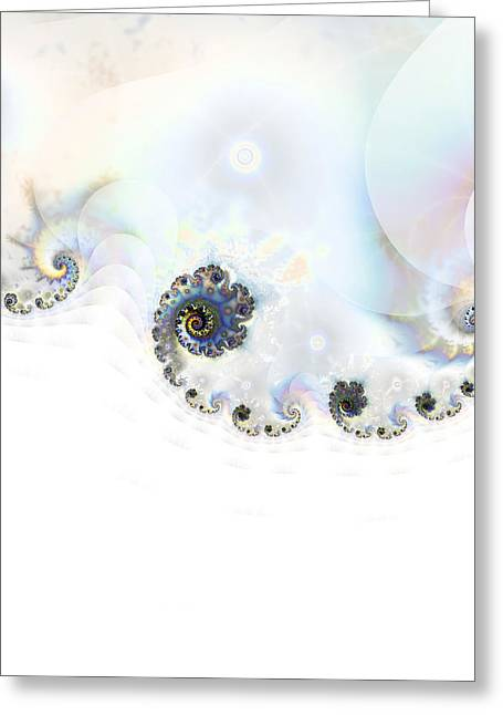Winter Scene Digital Art Greeting Cards - Snowdrift Greeting Card by Sharon Lisa Clarke