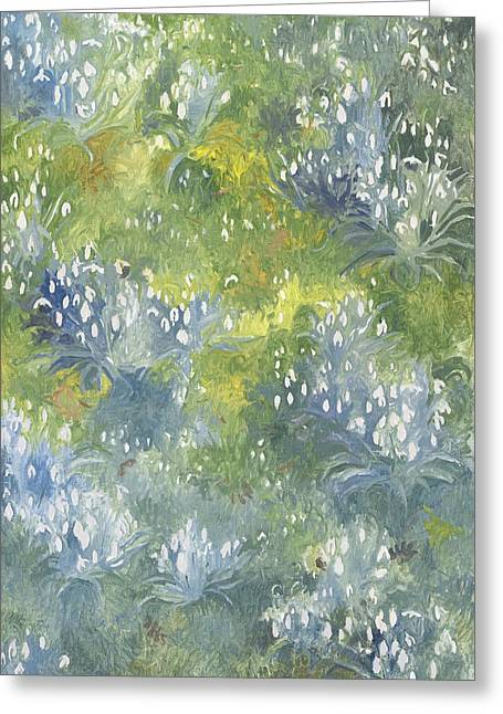 Floral Artist Greeting Cards - Snowdrops Greeting Card by Leigh Glover