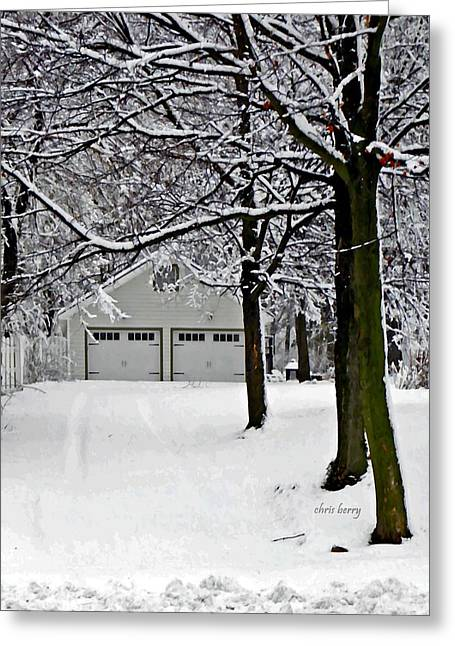 Snowed In Greeting Card by Chris Berry