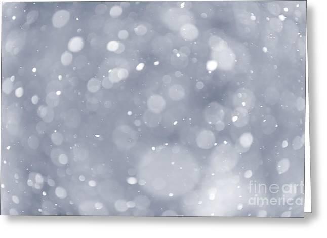 Snowfall background Greeting Card by Elena Elisseeva