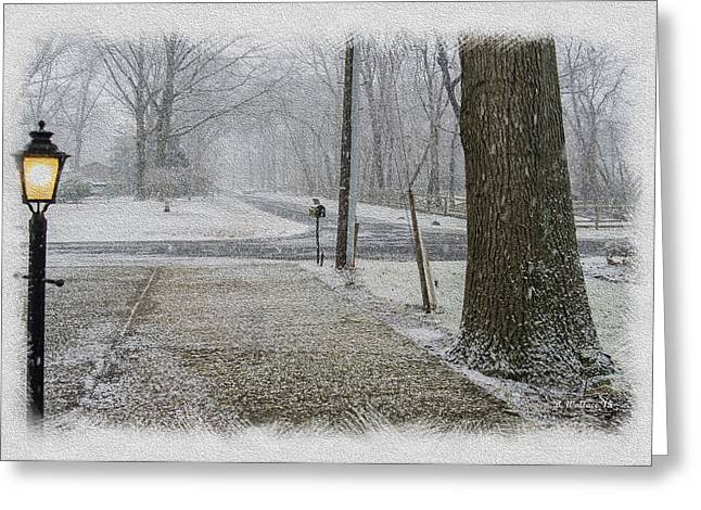Harsh Conditions Greeting Cards - Snowfall Greeting Card by Brian Wallace