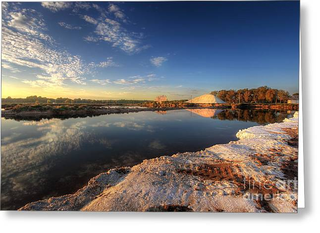 Snowfields Of Faro Greeting Card by English Landscapes
