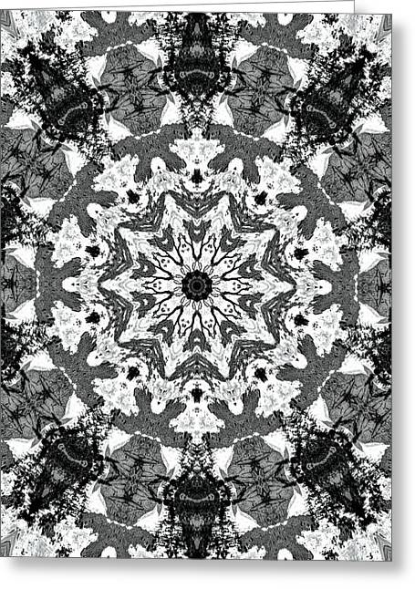 Unique Art Greeting Cards - Snowflake Greeting Card by Dan Sproul