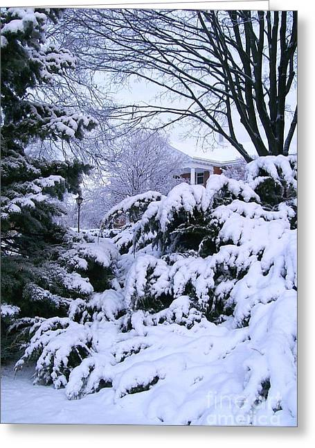 Snowmageddon Greeting Cards - Snowmageddon 2014 Greeting Card by Laurie Eve Loftin