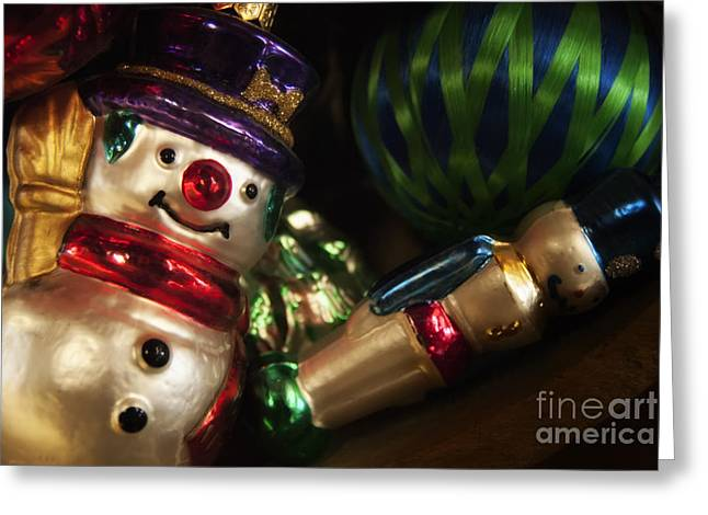 Photography Greeting Cards - Snowman Ornaments Greeting Card by Kelly Heaton