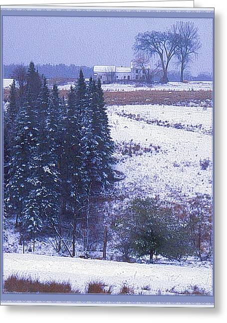 Olson House Greeting Cards - Snows Arrival Greeting Card by Joy Nichols