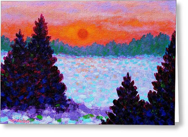 Field Framed Prints Greeting Cards - Snowscape Greeting Card by John  Nolan