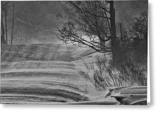 Snowstorm Framed Prints Greeting Cards - Snowstorm 2 Greeting Card by Joe Bledsoe