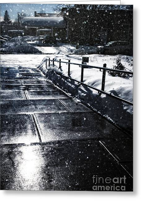 Snowy Day Greeting Cards - Snowy Afternoon Greeting Card by HD Connelly