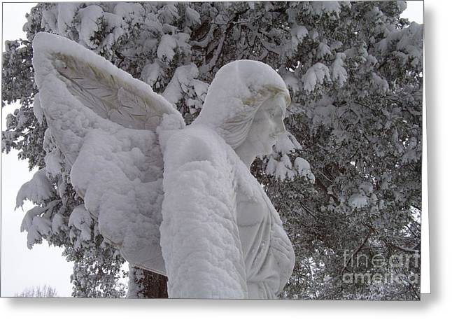 Snowy Angel Greeting Card by Kevin Croitz