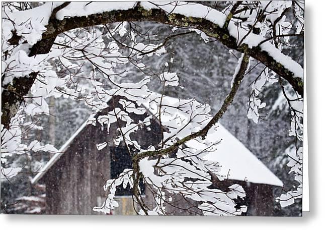 Snowy Barn 2 Greeting Card by Rob Travis