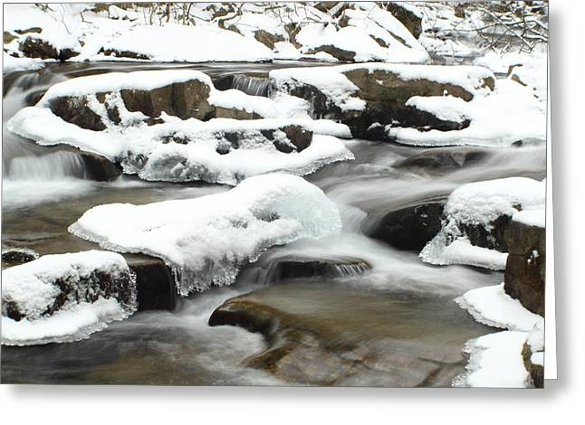 Jahred Allen Photography Greeting Cards - Snowy Falls Greeting Card by Jahred Allen