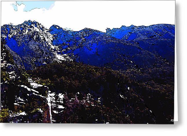 Kiwi Art Digital Art Greeting Cards - Snowy Falls Greeting Card by Robert Pierce
