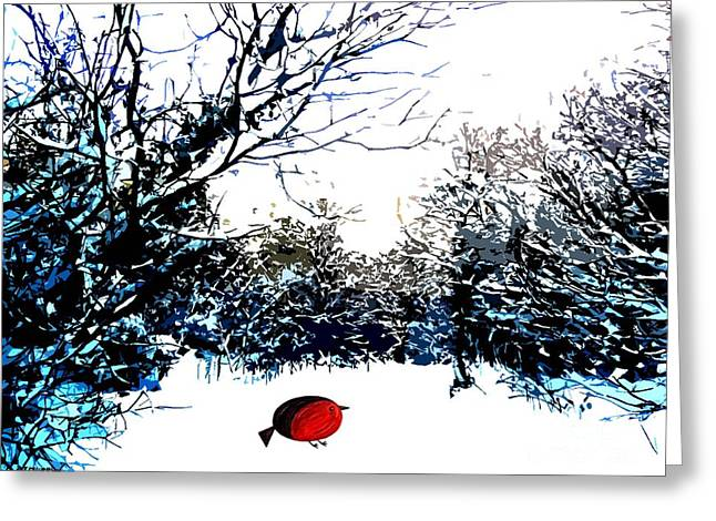 Winter Trees Mixed Media Greeting Cards - Snowy Forest At Christmas Time Greeting Card by Patrick J Murphy