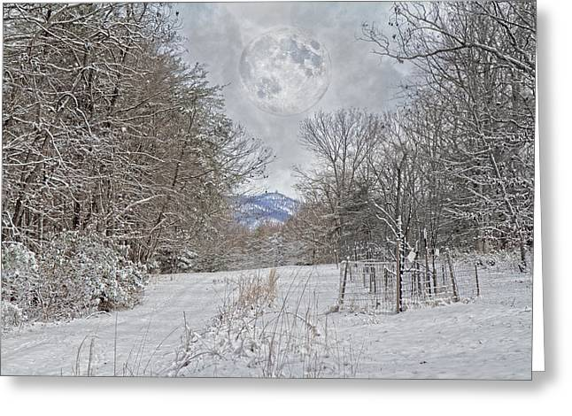 Snowy High Peak Mountain Greeting Card by Betsy Knapp